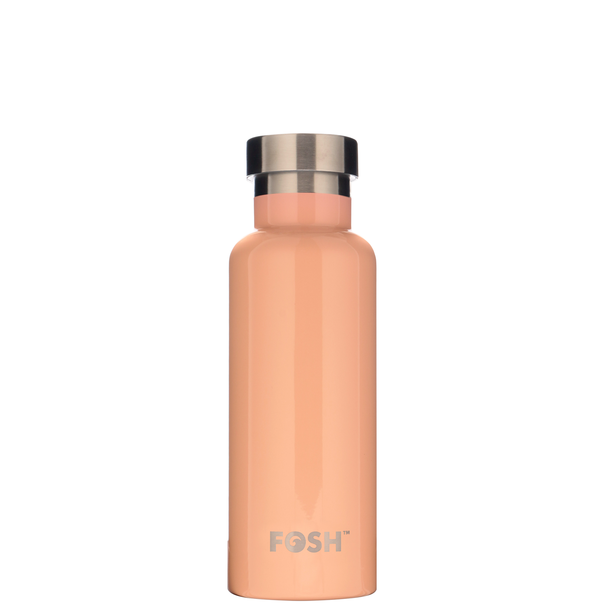 Stainless steel water bottle triple insulated apricot gloss finish