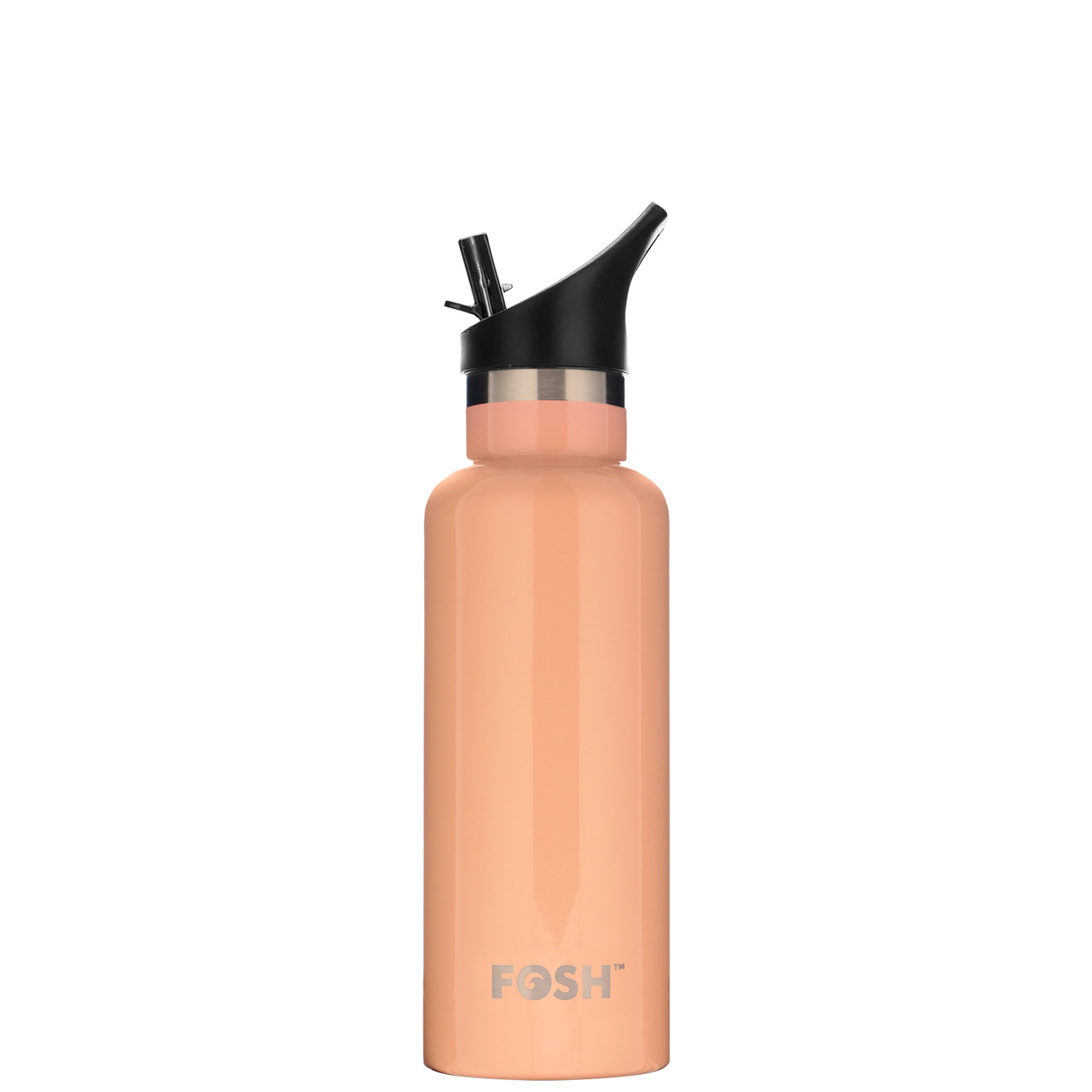 Stainless Steel Water Bottle Triple Insulated With Flip Lid Apricot Gloss Finish