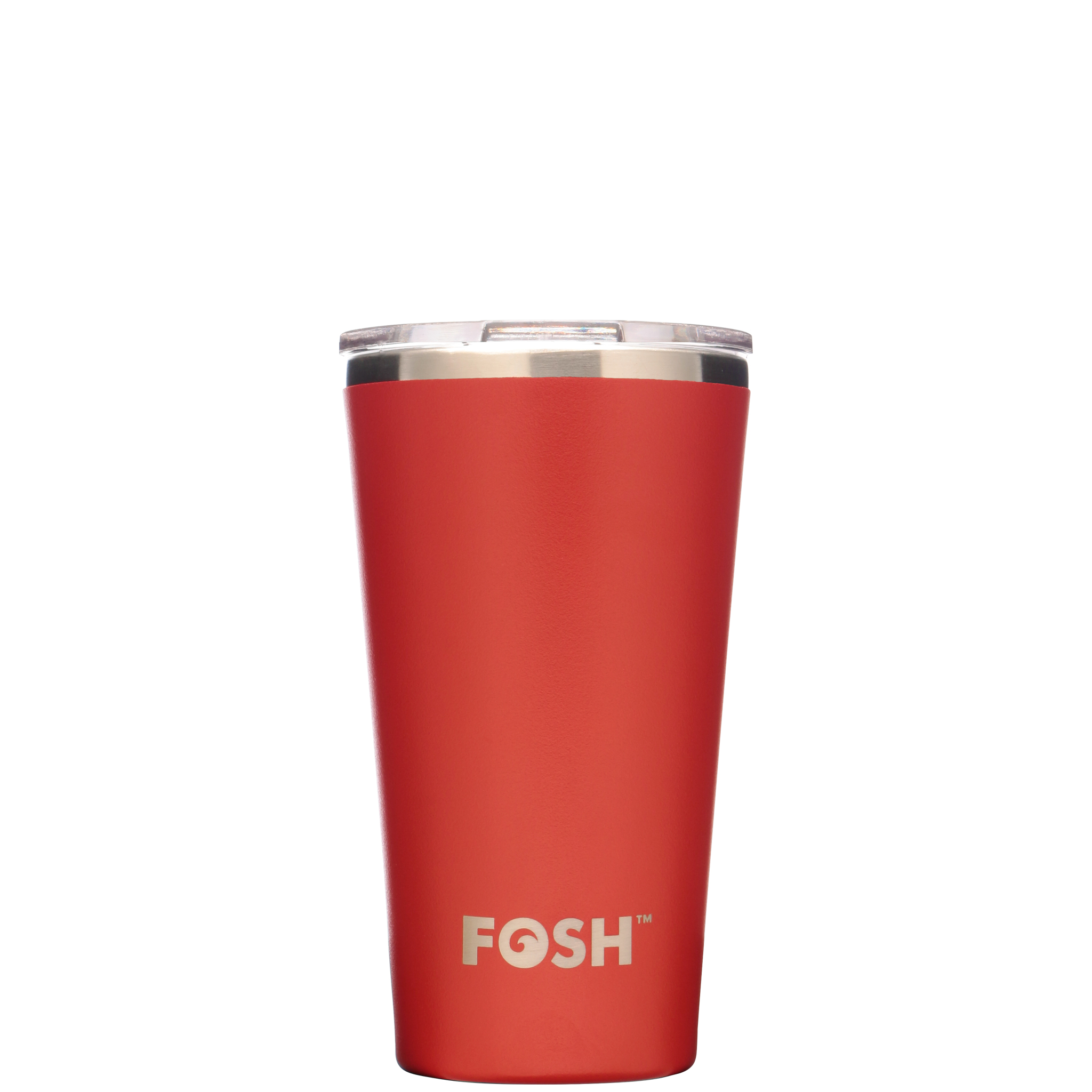 Stainless steel insulated coffee cup - Social blaze red