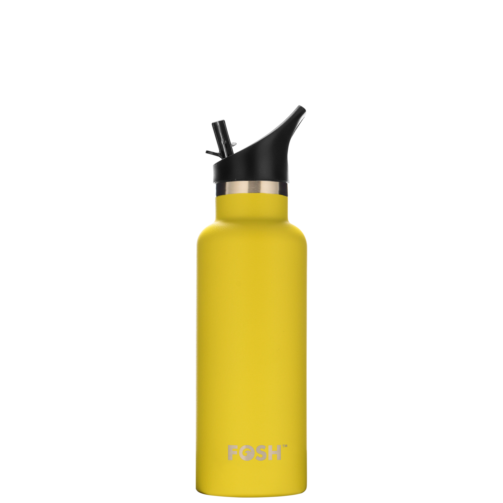 Stainless Steel Water Bottle Triple Insulated With Flip Lid Butterfly Yellow