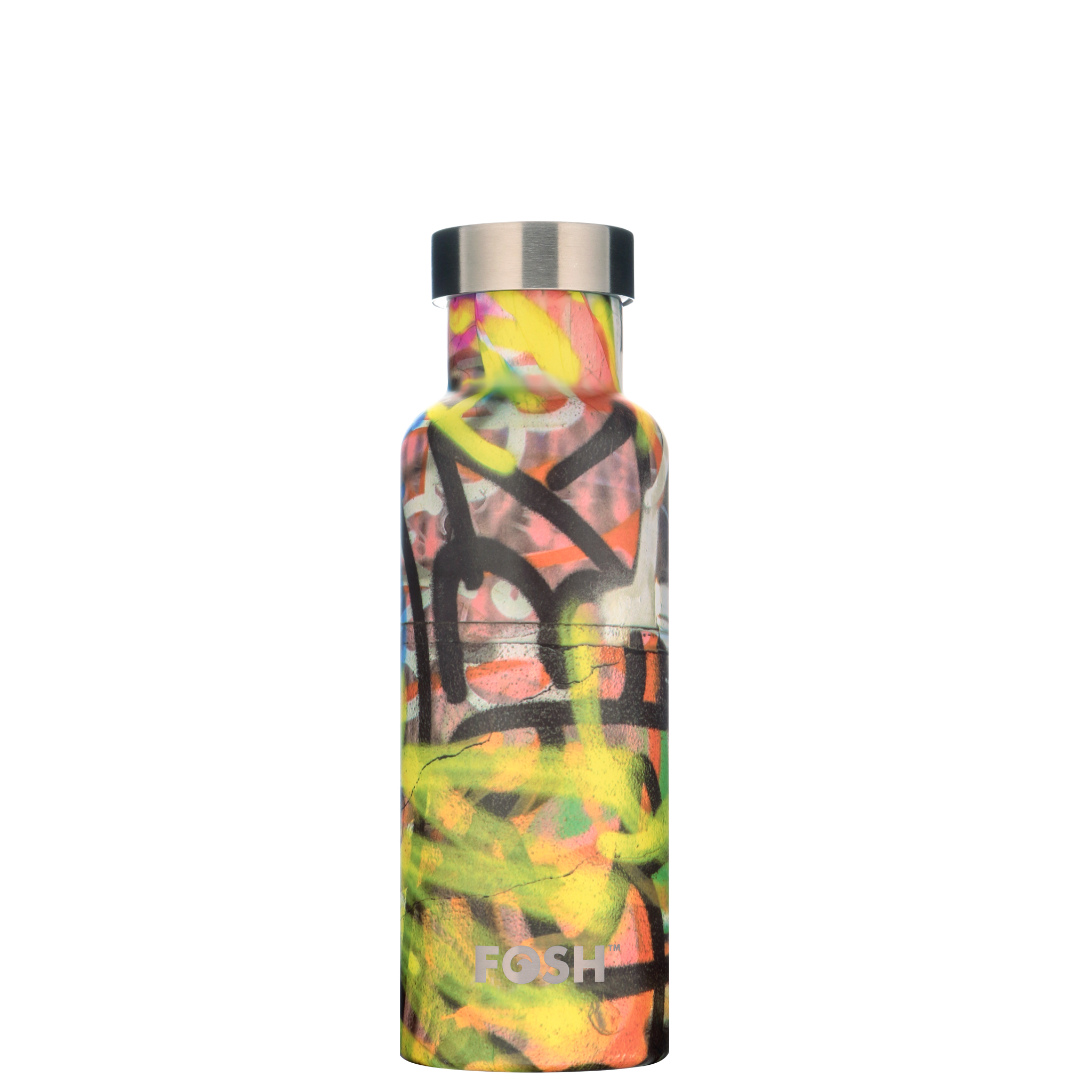 Stainless steel water bottle triple insulated graffiti