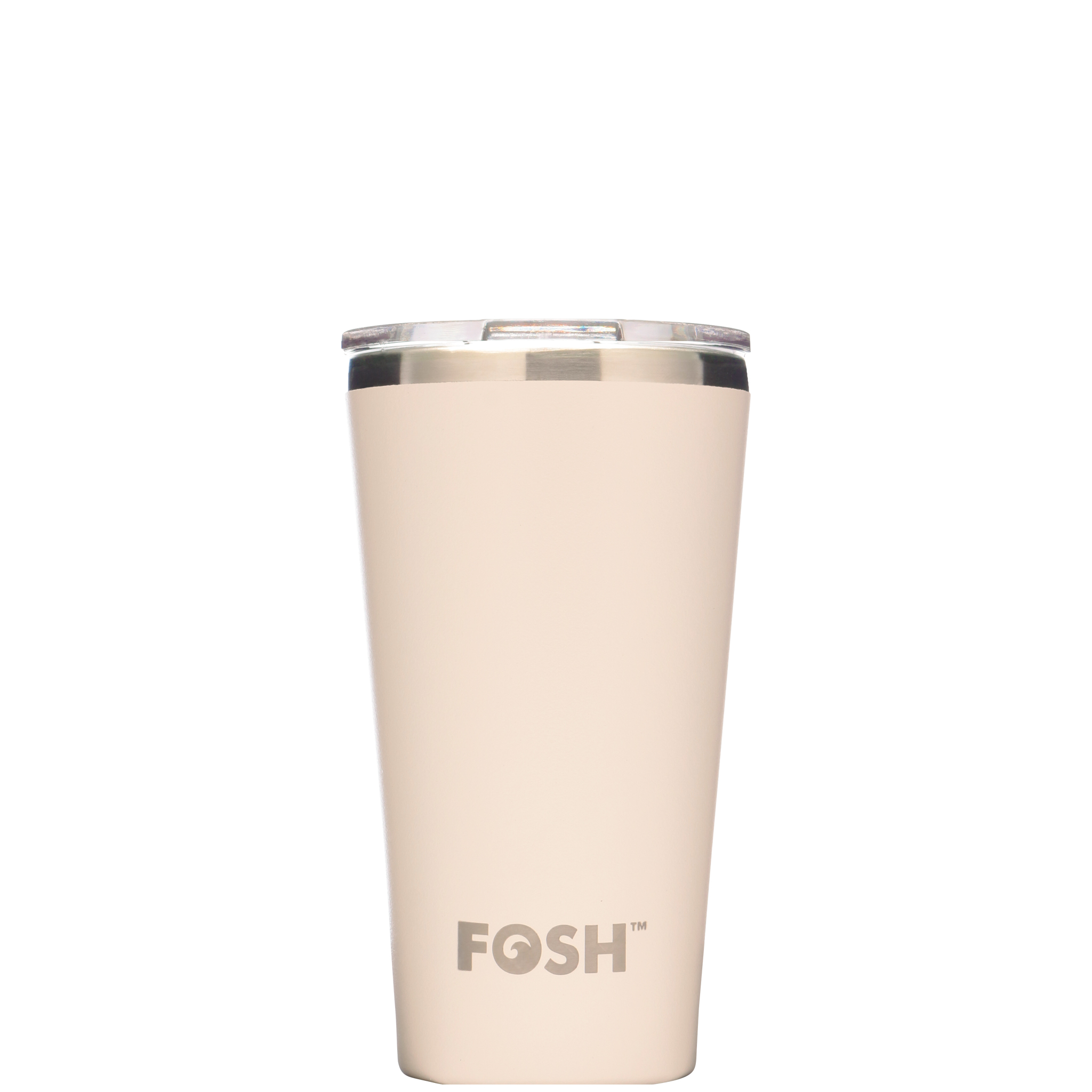Stainless steel insulated coffee cup - Social ice cream white