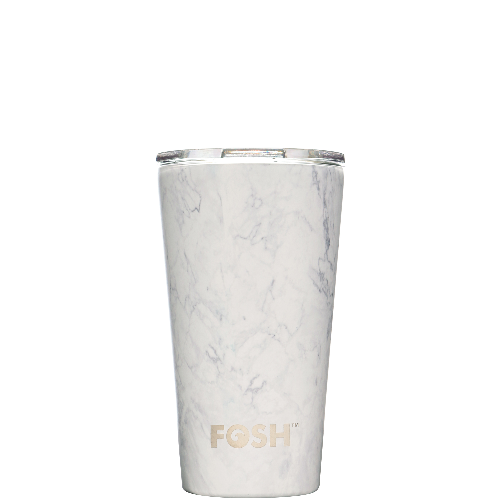 Stainless steel insulated coffee cup - Social marble