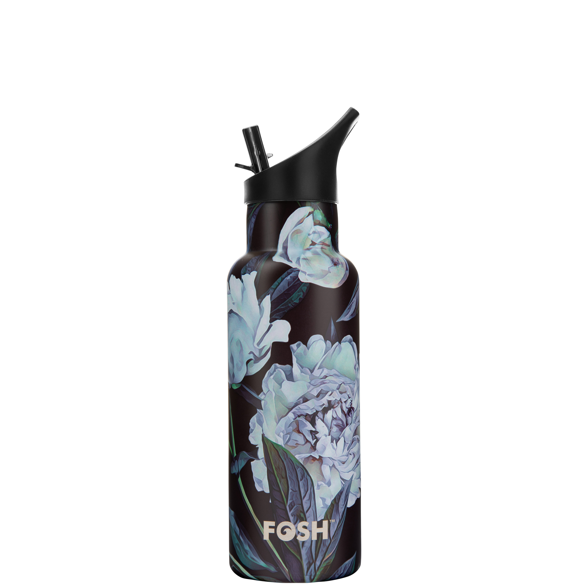 Stainless Steel Water Bottle Triple Insulated With Flip Lid Peony