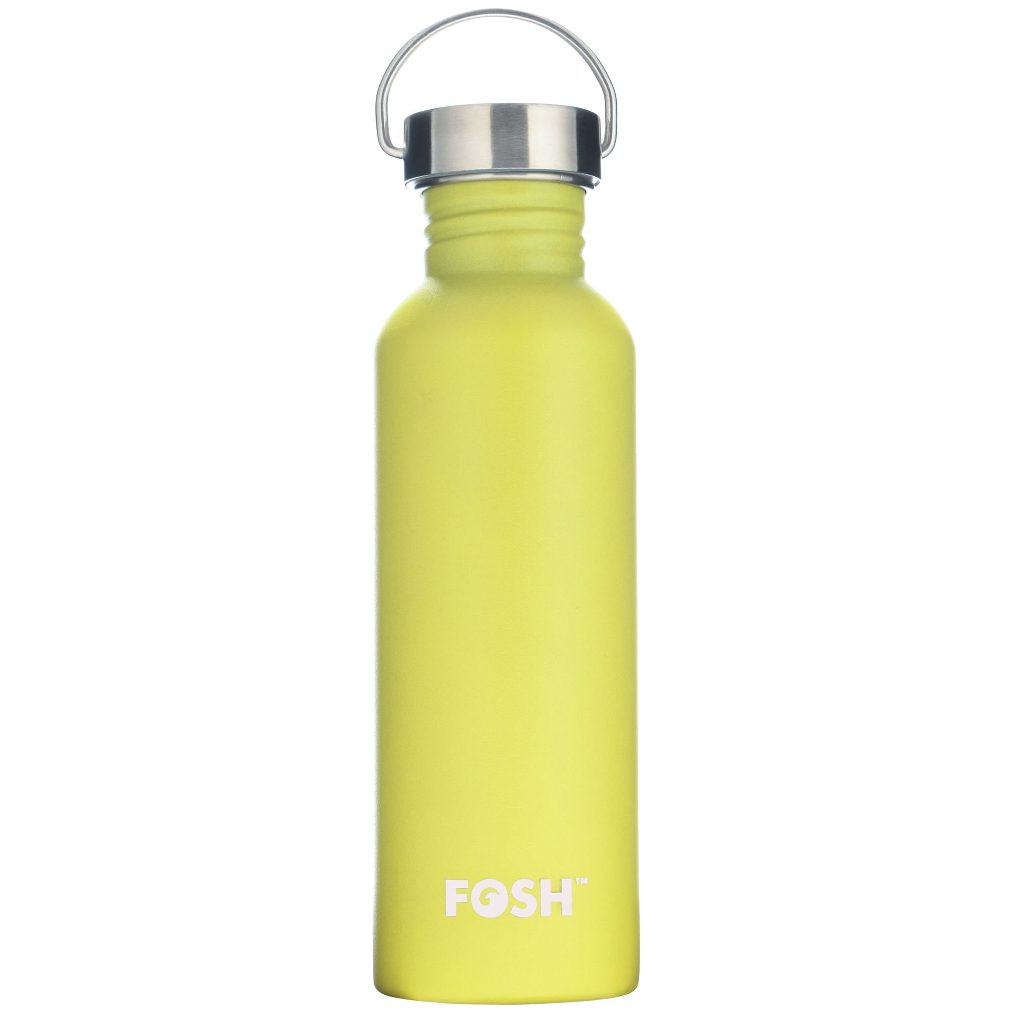 Stainless steel non insulated active water bottle butterfly yellow