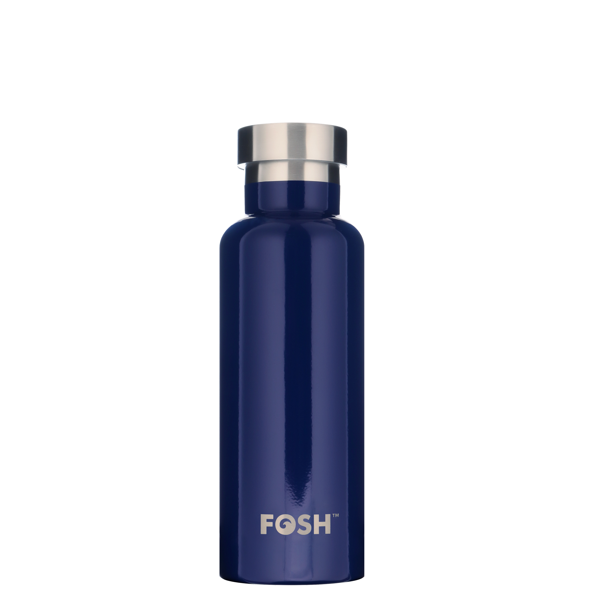 Stainless steel water bottle triple insulated indigo
