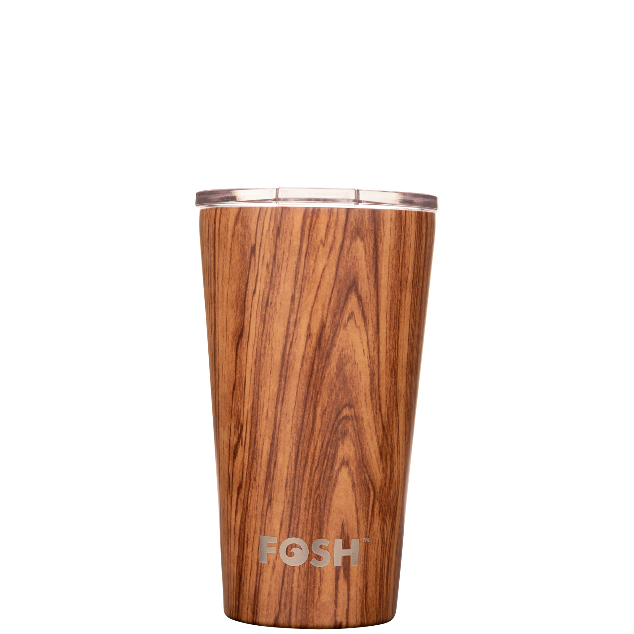 Stainless steel insulated coffee cup - Social wood