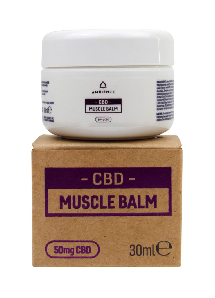 Ambience CBD Infused 50mg CBD Muscle Balm 30ml