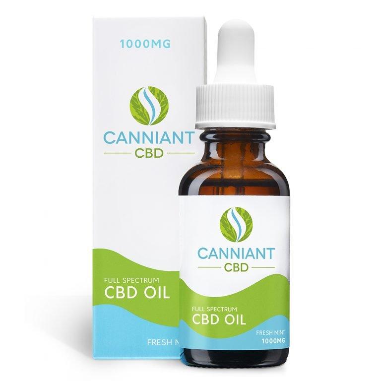 Canniant Full Spectrum 1000mg CBD Oil 30ml Fresh Mint