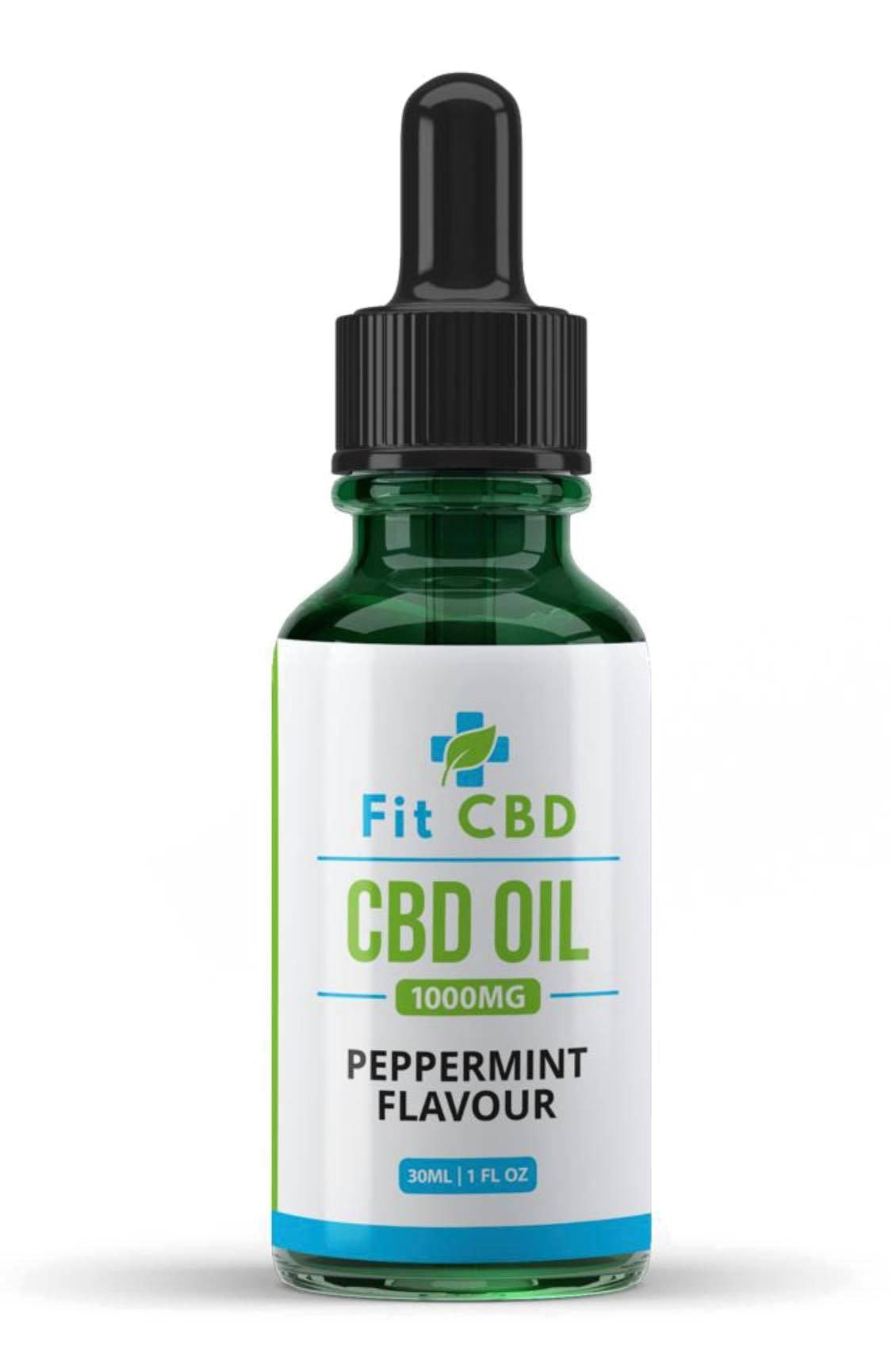 Fit CBD Tincture Oil 1000mg CBD Peppermint 30ml
