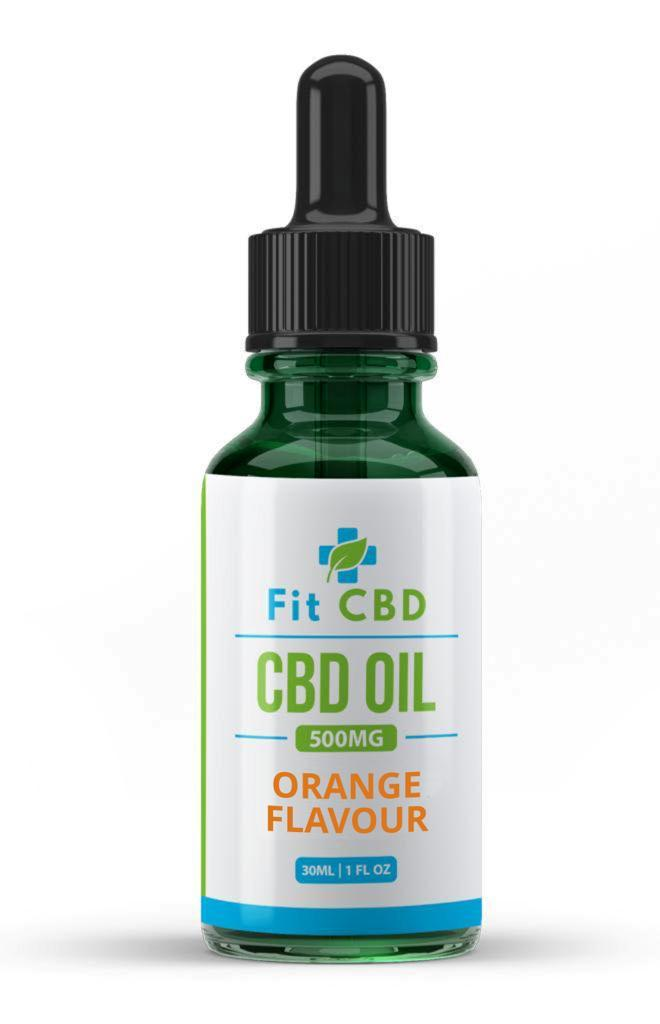 Fit CBD Tincture Oil 500mg CBD Orange 30ml