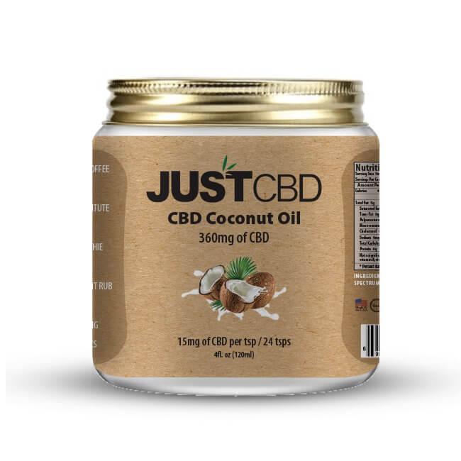 Just CBD Coconut Oil 360mg CBD 120ml