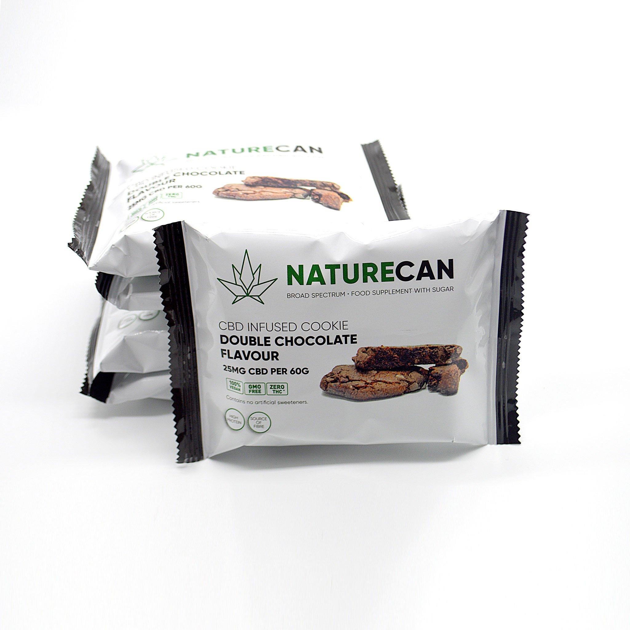 Naturecan 25mg CBD Double Chocolate Vegan Cookie 60g