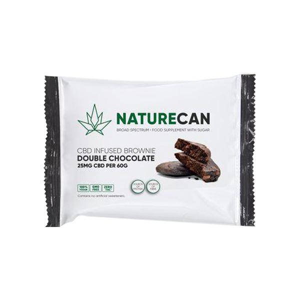 Naturecan 25mg CBD Double Chocolate Vegan Brownie 60g