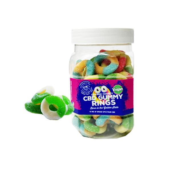 Orange County CBD 50mg Gummy Rings Large Pack