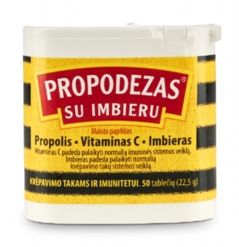 PROPODEZAS tablets with vitamin C and ginger, N50 / Propodezas® su imbieru tabletės, N50